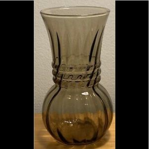 "Vintage Light Amber Swirl Vase 6-1/4"" tall"